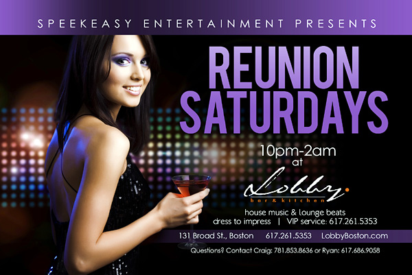 Reunion Saturdays - Lobby Bar Boston